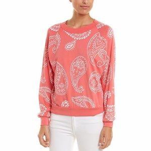 NWOT WILDFOX Coral Paisley Crewneck Sweater Large